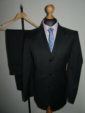 PIERRE CARDIN Mens Suit 2 Piece Single Breasted Grey Wool SIZE 40L W34 L32 - NEW