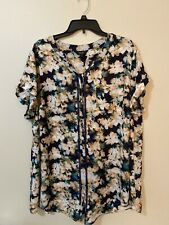 Women's Plus Size 2X Vera Wang Short Sleeve Summer Blouse