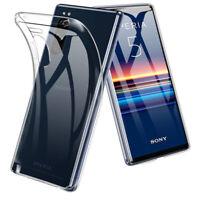 For Sony Xperia 1 ii 5 10 Plus XZ3 XZ2 L3 XA2 Shockproof Crystal TPU Case Cover