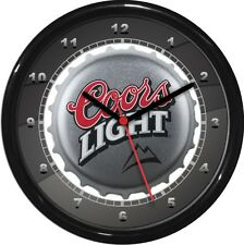 Coors Lite Beer Wall Clock  Man Cave Den Rec Room