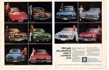 1974 GM / CHEVROLET - BUICK - CADILLAC - PONTIAC - OLDSMOBILE ~ ORIGINAL 2-PG AD