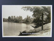 Mt. Gilead Ohio OH Maple Grove Lake Vintage Real Photo Postcard RPPC 1940s