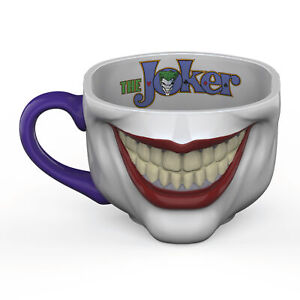 Zak Designs DC Comics Batman Fun Sculpted Joker Ceramic Coffee Mug, 17.5 oz