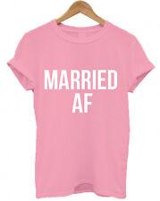 MARRIED AF, Wedding gift, unisex, bride and groom, honeymoon, marriage T-Shirt,