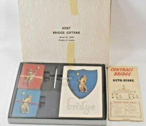 Vintage KENT Bridge Giftpak, Knights of Camelot Complete Mod 2000, 2 decks MCM