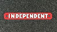 Independent Truck Company Bar Logo Skateboard Sticker Red 4in si