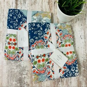 Set of 2 POTTERY BARN Chelsea Wholecloth Floral Quilted Standard Shams NIP NEW