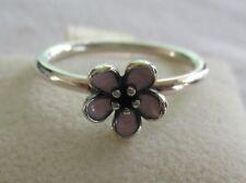 Authentic Genuine Pandora Silver Cherry Blosom Enamel Ring 190879EN40-52
