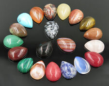 Wholesale 12pcs/lot Assorted Natural stone teardrop CABOCHON Stone Beads 12x16mm