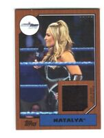 WWE Natalya 2017 Topps Heritage Bronze Event Used Shirt Relic Card SN 17 of 99