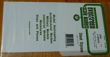 "Evergreen Styrene #2060 / 6 x 12"" Styrene Siding Sheet, V-Groove .020"" Thick --"