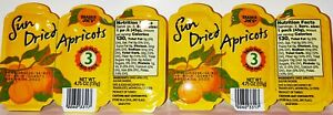 Trader Joe's Sun Dried Apricots Trio Pack 4.75 OZ  (135g)  2 Pack