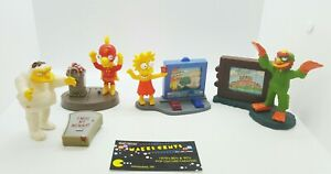 Lot Of 4 - The Simpsons Figures - Willie-Lisa-Barney -Millhouse Fox TV Toy