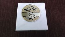 thank you  paperweight marble award metal insert personalized