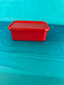 Plastic Storage Containers 20 x 2ltr Rectangular RED.