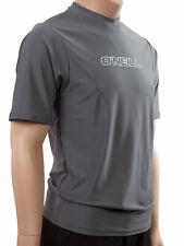 O'Neill Men's Basic Skins UPF 50 Short Sleeve Sun Shirt Gray 2xl With Tags