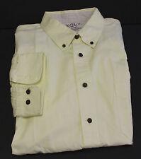 Austin Clothing Company Button Front Pale Yellow Size XXXL
