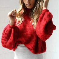 Oversized Women's Long Sleeve Loose Coat Outwear Knitted Sweater Jumper Cardigan