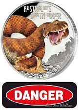 Tuvalu 2016 - 1$ Deadly & Dangerous - Death Adder - 1 oz Silver Proof Coin