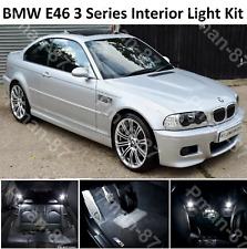 BMW E46 3 SERIES SALOON COUPE LED INTERIOR UPGRADE KIT SET XENON WHITE LIGHT