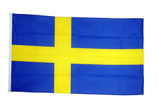 Sweden Large Flag 5 X 3 FT - 100 Polyester National Country Football Euro 2016