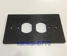 150*86 Carbon Fiber Power outlets cover wall plate Duplex Receptacle socket