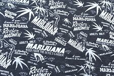 Legal Marijuana Adult Cotton Blend Fabric Jersey Knit by the Yard 9/16