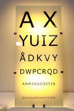 Ikea Gyllen 56 Eye Chart Wall Lamp Light Box David Wahl Design - 232