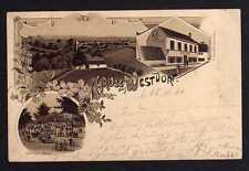 97848 AK Litho Westdorf Aschersleben Restaurant zum schwarzen Bär Helmdag 1897