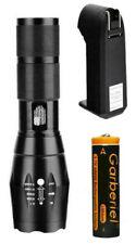 XML-T6 Tactical Flashlight / 18650 Battery / Charger / Tattered Flag Design