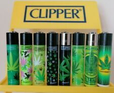 Clipper Lighters x8 Rare Cool Amsterdam Black Green Leaf Smoke Gift New Leaves