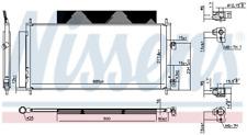 Kondensator, Klimaanlage NISSENS 940737 für HONDA