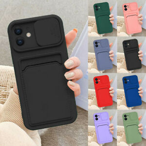 For iPhone 13 Pro Max 11 X XS 12 8 7 Plus Case Card Slot Wallet Slim Phone Cover