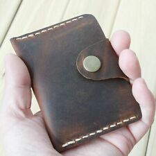 Men Wallet For Card Genuine Leather Holder Mini 1pc Brown Vintage Handmade Male