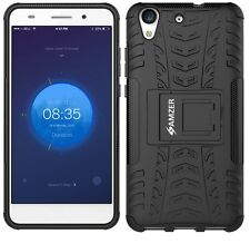 AMZER Rugged Hybrid Warrior Case Stand Armor Cover Huawei Y6 II Honor Holly 3