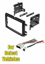 Double Din Stereo Radio Install Dash Mount Kit Combo for select Ford Vehicles