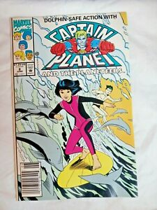 Captain Planet and the Planeteers #8 Marvel Comics Newsstand Edition 1992 FN+