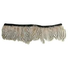 Pinstripe Silver Tail Pheasant Feather Fringe for Millinery use FR014