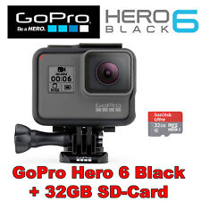 GoPro HERO6 Black Edition 4K60 UltraHD Waterproof Action Camera +32GB SD-Card
