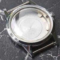 Swiss steel vintage Gruen watch case crystal crown & movement ring 1950s 5 sold