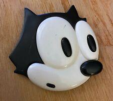 "Vintage 1988 Felix The Cat Productions Inc. 3"" inch Head Face Magnet 80s Cartoon"