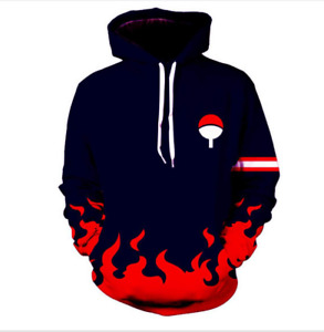 Naruto Uzumaki Anime Sweatshirt Uchiha Sasuke Hoodie Pullover Coat Unisex