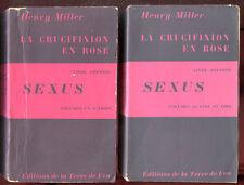 HENRY MILLER: SEXUS. 2 VOLUMES. EDITIONS DE LA TERRE DE FEU. 1949.