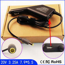 Laptop Car DC Adapter Charger & USB for IBM Lenovo Thinkpad SL400 SL500 R60 L330