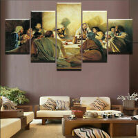 Jesus Christ Disciples The Last Supper Canvas Prints Painting Wall Art Poster 5P