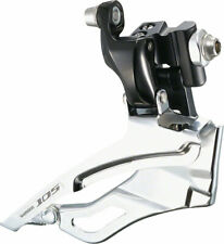 New Shimano 105 FD-5703 Triple Black Front Derailleur Braze On