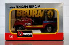 Burago 1/24 Renegade Jeep CJ - 7  Die-Cast Scale Modell Auto - 0137 - NEU OVP