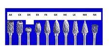 Form FX4 Rundbogen  Z7 Hartmetall HM Bit  Fräser 3mm Schaft, 4 Ø ETHMF-FX4