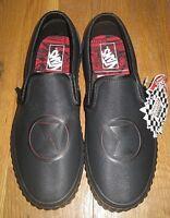 Vans x Marvel Classic Slip on Men's Black Widow Skate shoes Black Red Size 8 NIB
