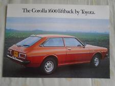 Toyota Corolla 1600 Liftback brochure Jan 1977